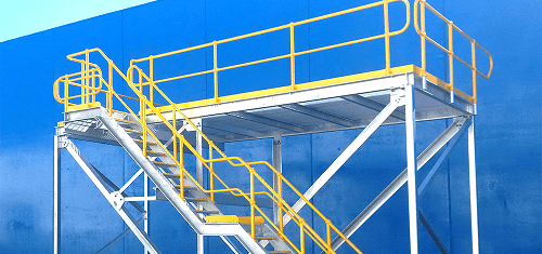 Side View Of Yellow Access Platform