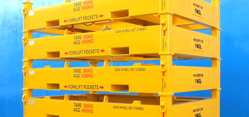 Yellow Transport Frames